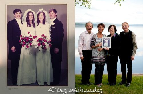 Tillbaka och 40-årig bröllopsdag